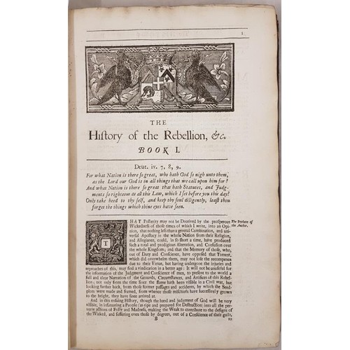 58 - Clarendon, Edward The History of the Rebellion and Civil Wars in England, begun in the Year 1634. Du...
