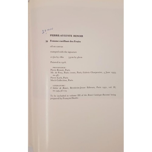 103 - Hugely important Sotheby's catalogue of A Distinguished French Collection of Impressionist and...