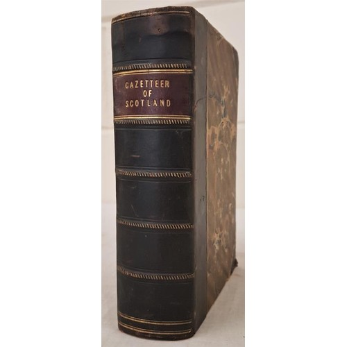 106 - R & W. Chambers. The Gazetteer of Scotland. 1832. Large folding map and steel engravings. Half c...