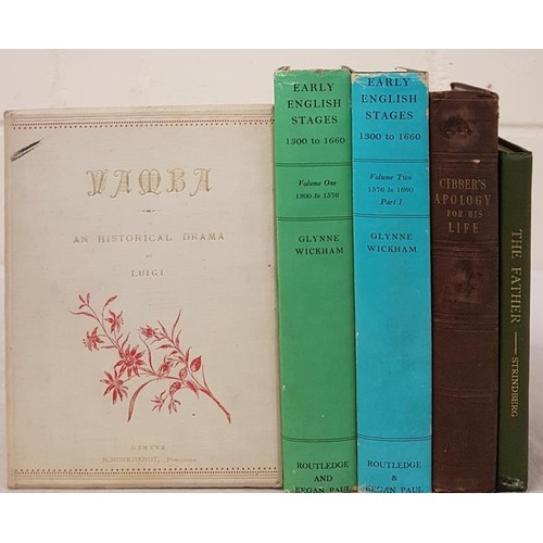109 - Theatrical History] Wickham, G. Early English Stages 1300 to 1660, 1966-71, 2 vols., nice in dust ja...