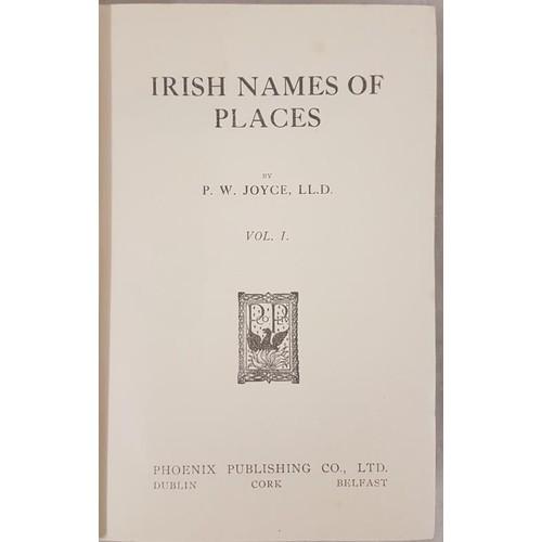 111 - P. W. Joyce. Irish Names of Places. Dublin. c.1920 3 volumes. Very fine set in original gilt green c...