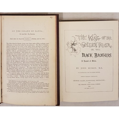 119 - Dr. Reeves. On The Island of Sanda - Read before the Royal Irish Academy on April 14-1862. Book plat...