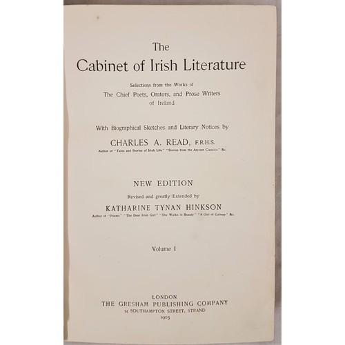 122 - The Cabinet Of Irish Literature. 4 vols, London, 1903 - nice condition