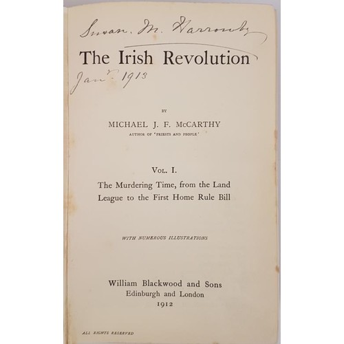 138 - The Irish Revolution. The Murdering Time from the Land Bill to the First Home Rule Bill by Michael J...