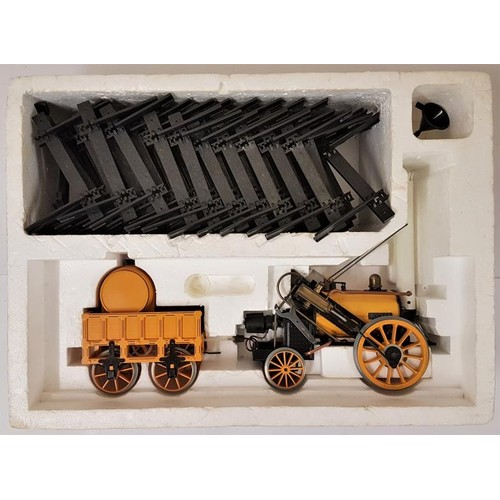 1 - Hornby Stephenson Rocket Real Steam Trainset - boxed