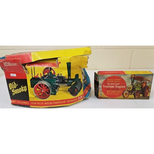 10 - Wilesco D36 Old Smoky Steam Roller (boxed) and a Scalecraft Traction Engine