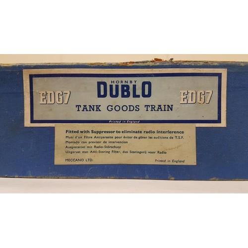 24 - Hornby Duplo Electric Train Set EDG7 Tank Goods Train - boxed
