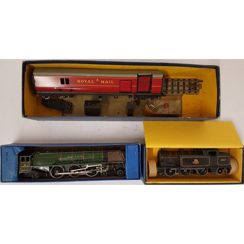 28 - Collection of Three Hornby Dublo OO Gauge Locomotives, 3 Rail and 2 Rail - T.P.O. Mail Van Set; EDL1...