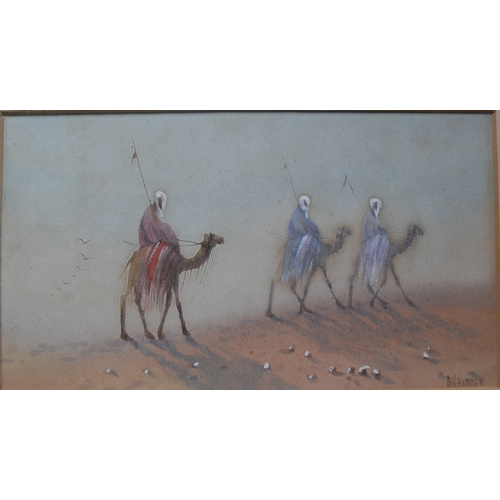 151 - D H Pinder (British 1886 - 1949), a pair of watercolours, 'TRIBESMEN ON CAMELS' signed bottom right,...
