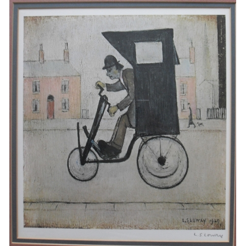 150 - Laurence Stephen Lowry R.A. (1887-1976); THE CONTRAPTION,  a signed limited edition coloured print  ...