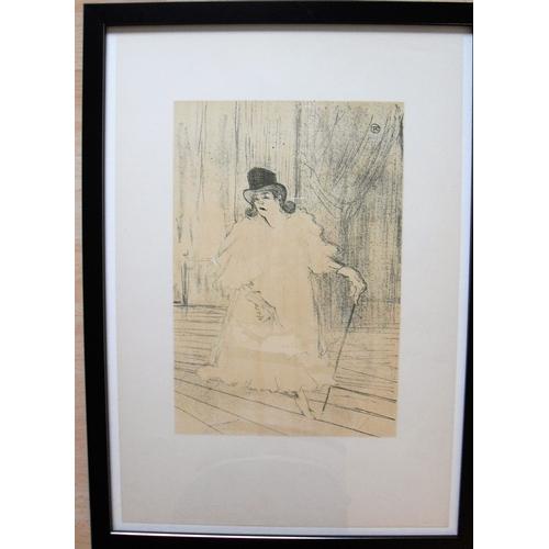 52 - Henri de Toulouse Lautrec (1864-1901), CECY LOFTUS, lithograph, printed by Mourlot, 1948, framed and...