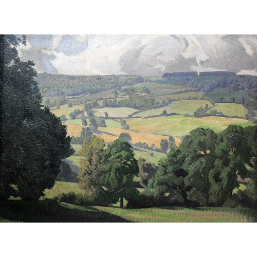 41 - James W. Tucker A.R.C.A., F.R.S.A (1898 to 1972), SUNSHINE AND SHADOW, VIEW FROM HORSEPOOLS, oil on ...