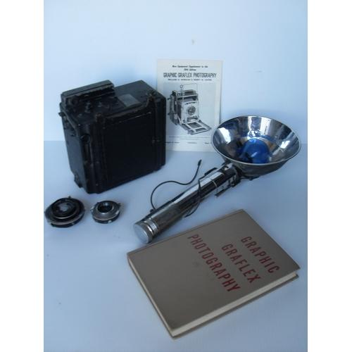 Graflex Speed Graphic 4x5 Large Format Camera with 127mm f4.7 Ektar Lens