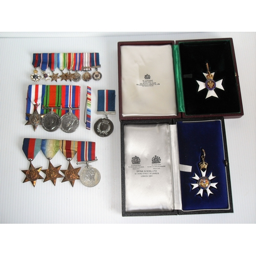189 - A group of eight WWII and later medals awarded to Commander J. C. EDMONDS to include: The Most Disti...