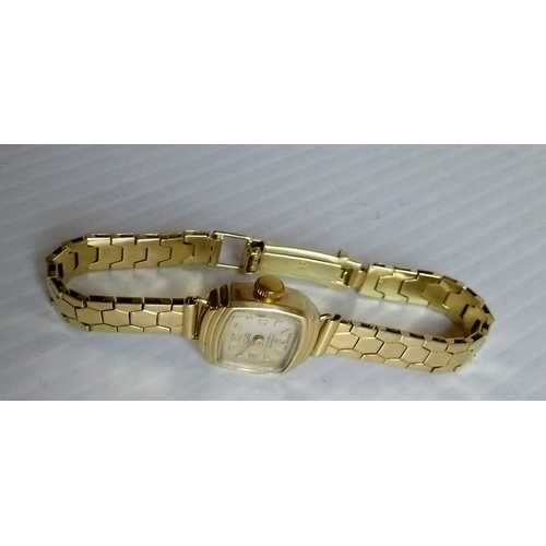 234 - A 14ct yellow gold-cased vintage ladies Cito watch with bracelet strap, in working order, hallmarked...