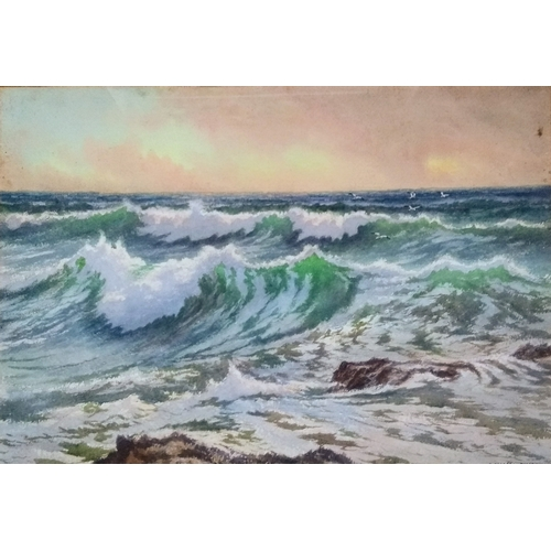 67 - Douglas Pinder (1886-1949), BREAKING WAVES, watercolour, 35 x 50 cm, framed and mounted, signed bott...