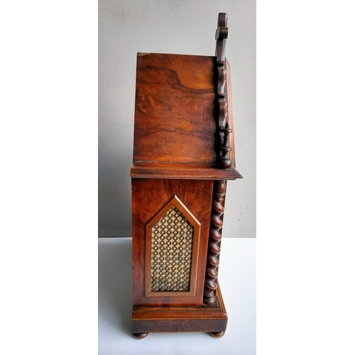 193 - A Georgian and later mahogany-cased bracket clock by Joseph Finney, Liverpool with arched hood, fini...