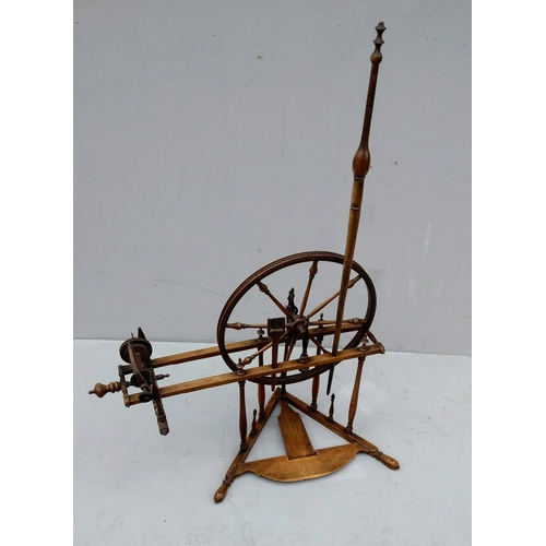 17 - A 19th century spinning jenny, possibly French...