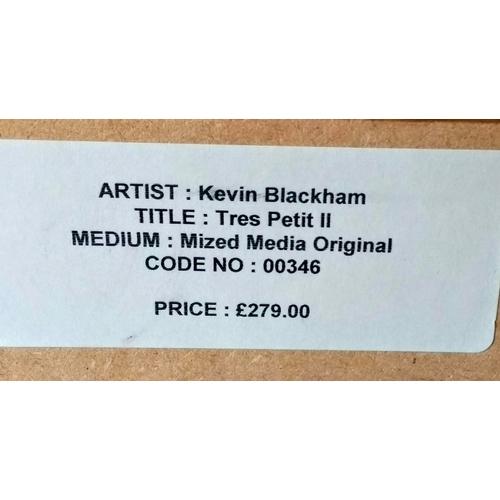 42 - Kevin Blackham, TRES PETIT II, mixed media, framed, mounted, glazed and signed, 41 x 16 cm...