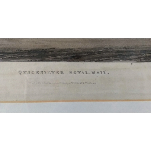 44 - After James Pollard (1792-1867) British, QUICKSILVER ROYAL MAIL, engraved by C Hunt, 34 x 44 cm...