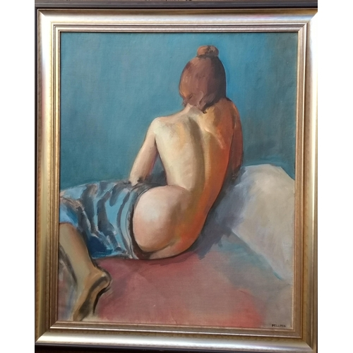 47 - John Pelling, RECLINING FEMALE NUDE, oil on canvas, 74 x 60, framed and signed...