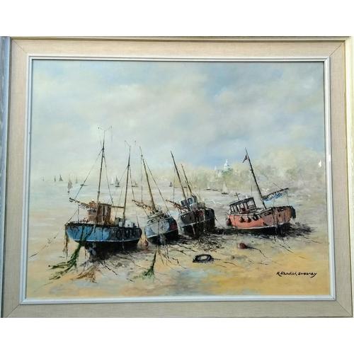 48 - R. Standish Sweeney, (b. 1917) NEAR PENZANCE, CORNWALL, framed, 60 x 75 cm...