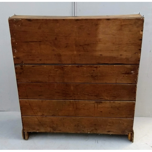 11 - A 19th century pine dresser base with an assortment of seven drawers over a two-door cupboard, 143 x...