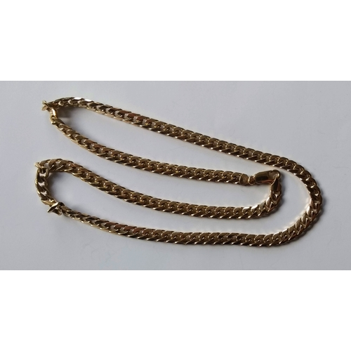 245 - A 9ct yellow gold curb-link neck chain, 60 cm, hallmarked, 58.32g...