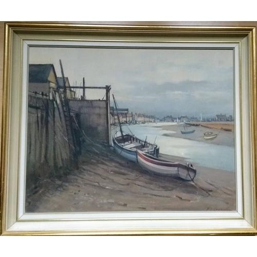 56 - Frank L. Cramphorn, FRSA, WELLS-NEXT-THE-SEA, oil on board, signed, 40 x 60 cm....