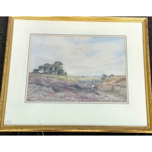 57 - Claude Hayes (Irish, 1852-1922), PLOUGHING SCENE, watercolour, signed bottom left, 27 x 38 cm...