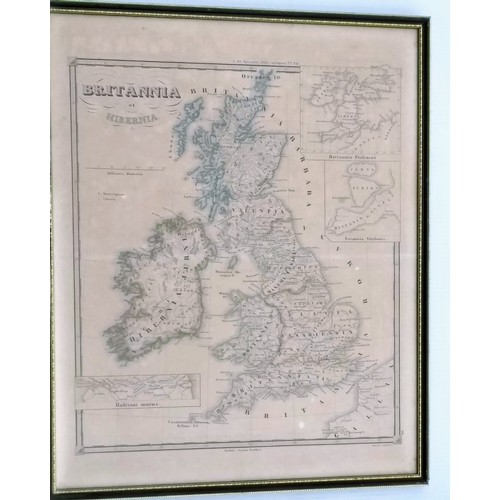 40A - Three Robert Morden hand-coloured maps of Bedfordshire, 32 x 40 cm, Northampton, 36 x 42 cm and Ches...