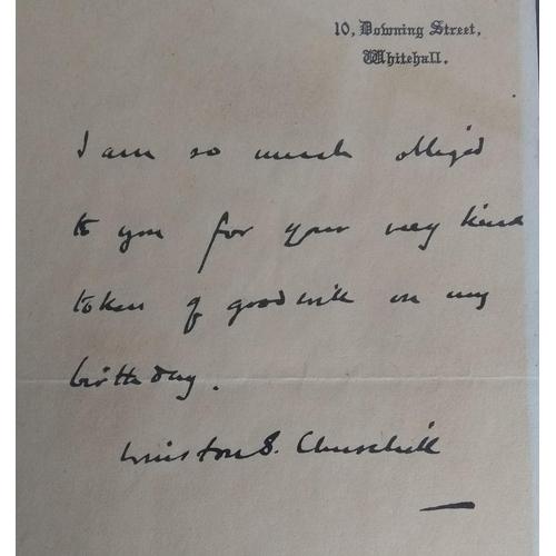 74 - CHURCHILL WINSTON (1874-1965) British Prime Minister 1940-45, 1951-55, facsimile letter, signed ('Wi...