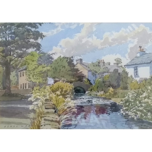 35 - Henry Wilson Bracken (1920-1998), HIGH SUMMER, STAINTON, watercolour, framed, mounted and signed, 26...
