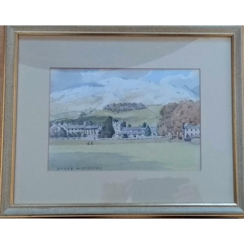 37 - Henry Wilson Bracken (1920-1998, SEDBERGH SCHOOL, CUMBRIA, watercolour, framed, mounted and signed, ...