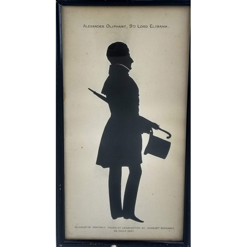 47 - A full-length cut silhouette by August Edouart, silhouettist to the French Royal Family, showing Ale...