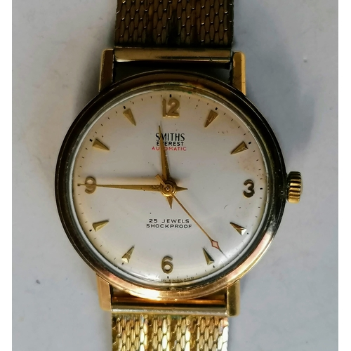 6 - An early 1960's Smith Everest Automatic gold-cased wristwatch, the circular dial with applied Arabic...