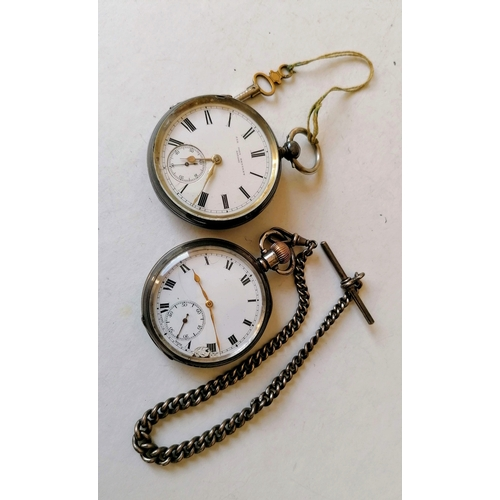 4 - A Victorian silver-cased key-wind pocket watch by John Bennett, Cheapside with Roman numerals, subsi...