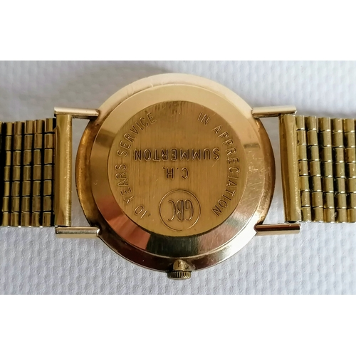 9 - A vintage Omega men's wristwatch with sweeping seconds hand, date aperture, baton markers, inscribed...