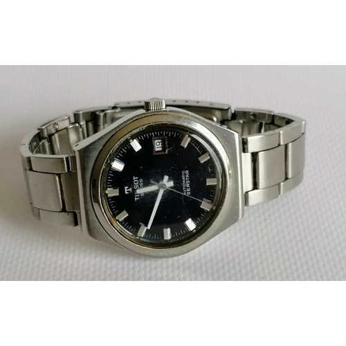 10 - A 1960's Tissot Automatic Seastar stainless gent's wristwatch with date aperture, Swiss movement and...