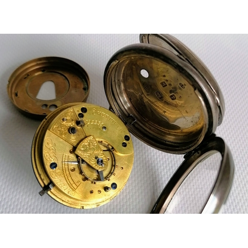 11 - An Edwardian silver cased open-face key-wind pocket watch, by J.G. Graves of Sheffield, lever moveme...