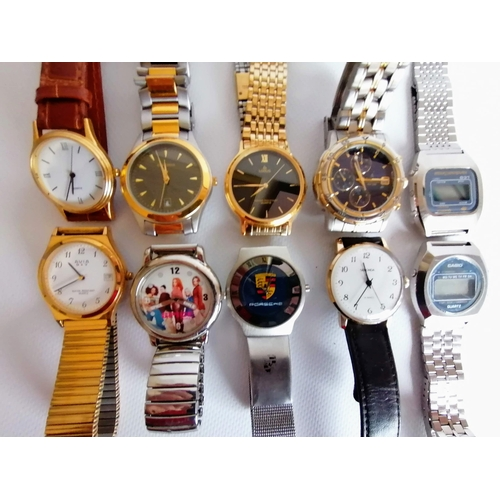 5 - An assortment of vintage gents watches to include two Rotary manuals, Sekondas, etc...