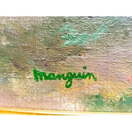51 - Henri Manguin (1874-1949) LE REPOS, JEANNE ET PIERRE MANGUIN A SAINT-TROPEZ, oil on canvas, stamped ...
