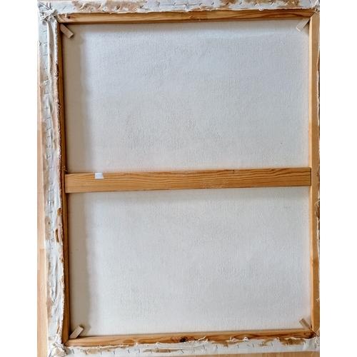 28 - J. de Hoyes (Spanish, 20th century) OVER THE JUMP, oil on canvas, 100 x 81 cm, unframed, signed bott...