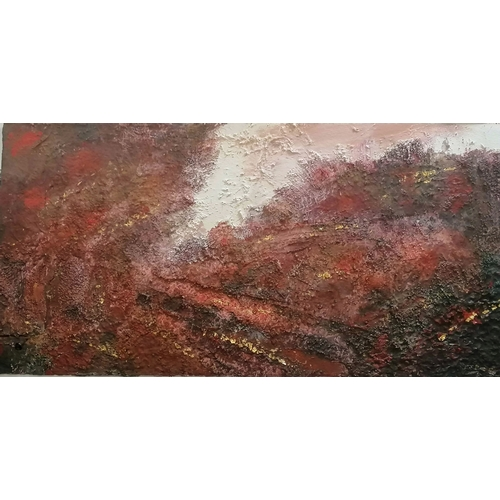 31 - Janet Rogers (British, 20th century) ABSTRACT, mixed media, framed and mounted, 40 x 75 cm, initiall...