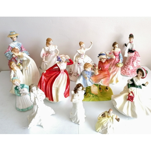74 - A selection of eleven Royal Doulton figurines: Mary Countess Howe, HN 3007, 1023/5000 with certifica...