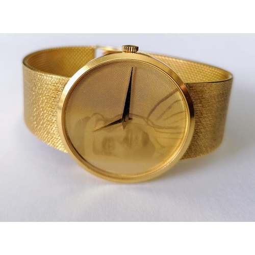 16 - A Chopard Automatic 18ct yellow gold bracelet dress watch, 32mm dial, image transposed to face, numb...