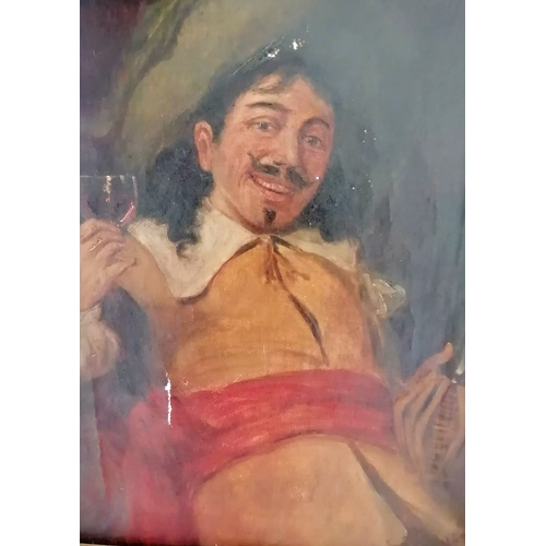 25 - Circle of Ferdinand Roybet (1840-1920) THE CAVALIER, oil on canvas, signed lower right, framed, 40 x...