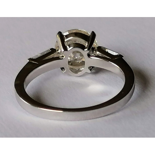 273 - A solitaire brilliant-cut diamond ring, 8 x 8 x 4.97mm weighing a calculated 2.00 carat, estimated c...