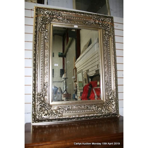 25 - Silver Beval Mirror.1.3x1m0...