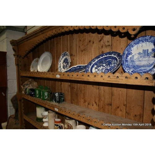 33 - Top shelf of plates & plaques...
